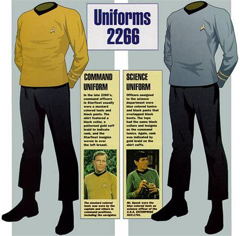 trek shirt color meaning magrathean starfleet uniforms 2266 trek the