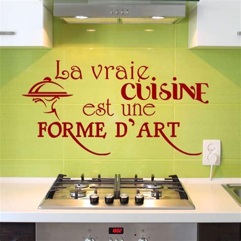 cuisine est sticker la vraie cuisine est une forme d design