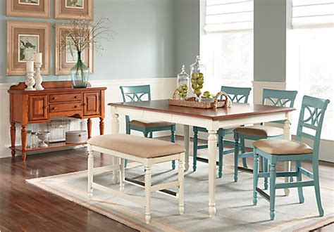 cindy crawford home ocean grove white 5 pc counter height