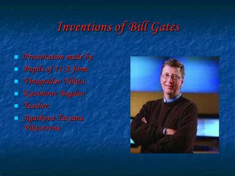 recount text biography bill gates inventions of bill gates