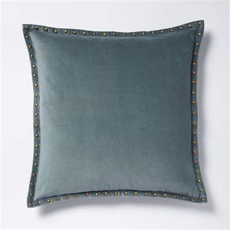west elm pillows studded velvet pillow cover blue i west elm