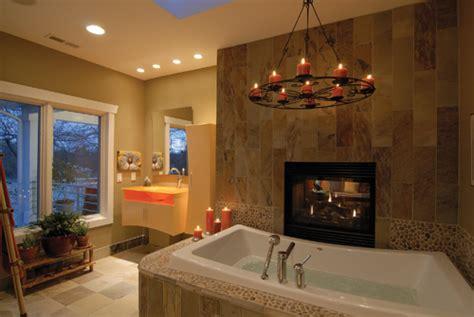 see through public bathroom design spotlight fireplaces custom builder