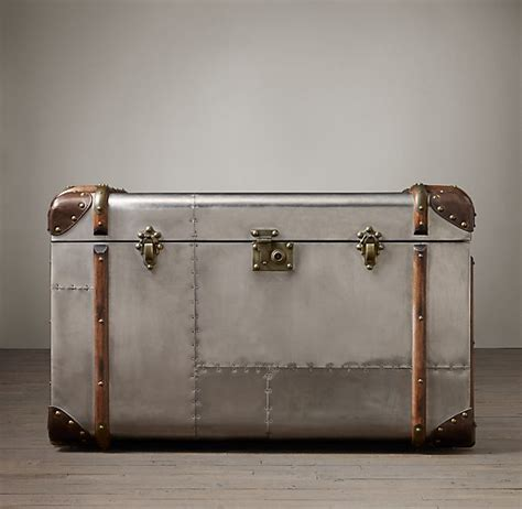 Quick Simple Ways To Update Your Living Room Snob Aluminum Trunk Coffee Table