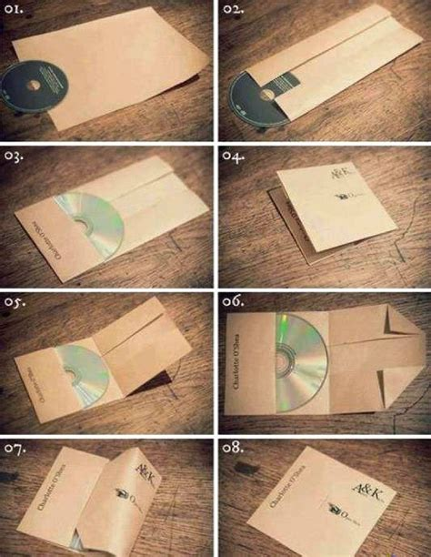 Make Cd Out Of Paper - how to make cd cover by folding paper