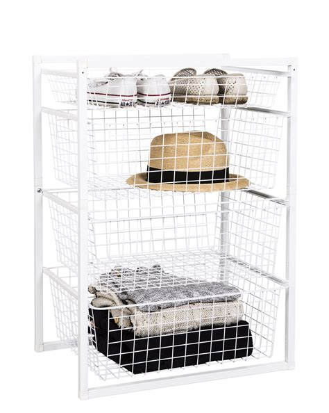 Wire Basket Drawers by Wire Basket Drawer Unit 4 Tier From Storage Box