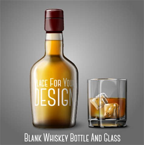 whiskey glass svg blank whiskey bottle and glass vector graphics free vector