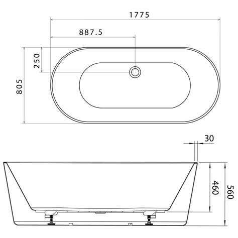 freestanding bathtub sizes caroma aura 1800 freestanding bath thrifty plumbing and