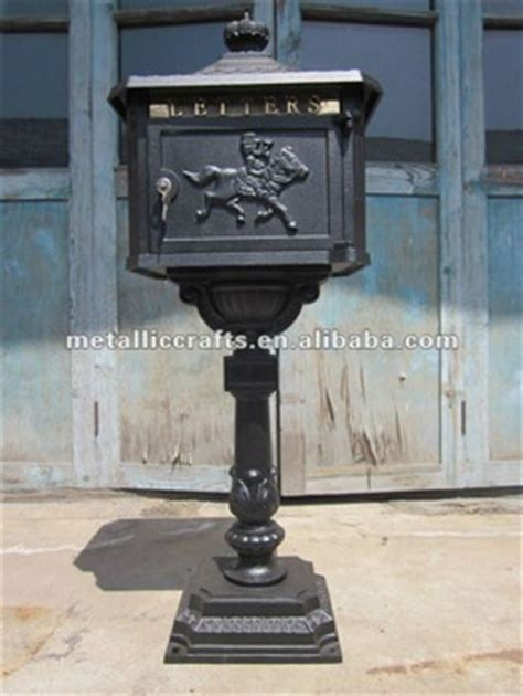 cast aluminum l post cast iron mailbox buy cast iron mailbox cast aluminum