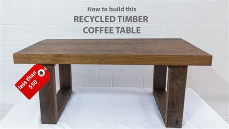 easy diy modern coffee table  reclaimed wood