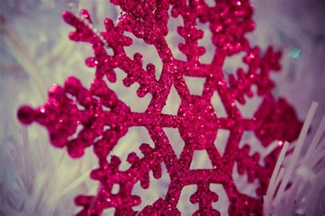 glitter pink snowflake image 167964 on favim com