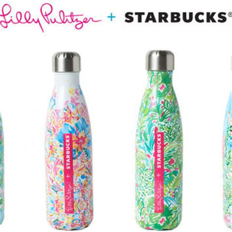 lilly pulitzer s well bottle starbucks best s well bottle products on wanelo