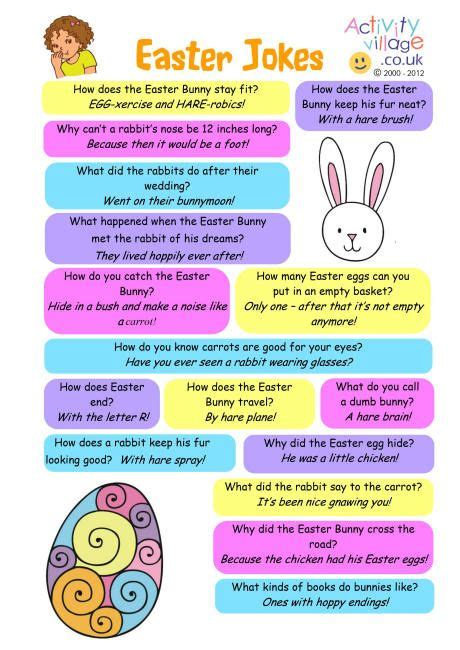 printable corny jokes easter jokes free printable speech room news pinterest