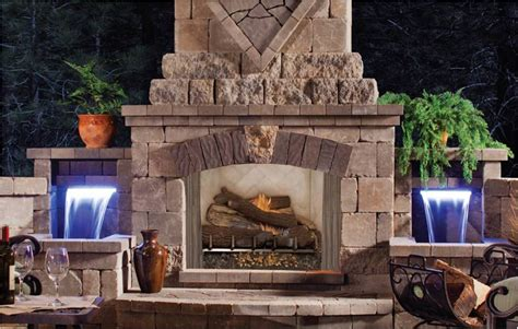 Outside Fireplace by Fmi Products Outdoor Fireplace Venetian Emberwest