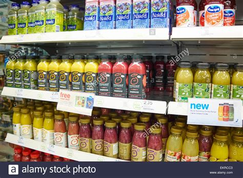 Instore Products Similar To Gfc Detox by Healthy Fruit Juice And Smoothie Drinks On Display At
