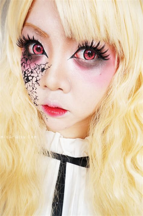 tutorial makeup halloween doll misaraisu halloween creepy doll makeup tutorial