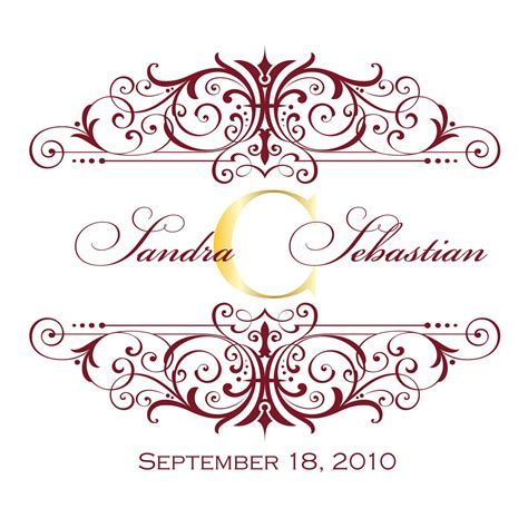 Wedding Monogram by Trouble Designs Wedding Monograms For
