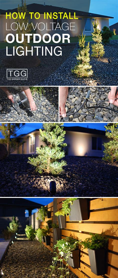 How To Install Low Voltage Outdoor Lighting The Garden Glove How To Install Patio Lights