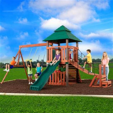swing and slide canada swing n slide sherwood tower wood complete play set home