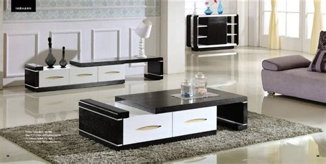 Tv Cabinet And Coffee Table Set Modern Balck Wood Furniture Tea Coffee Table Tv Cabinet Set Smart Home Furniture Factory Price