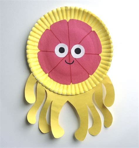 Octopus Paper Plate Craft - paper plate octopus craft gallery craft decoration ideas