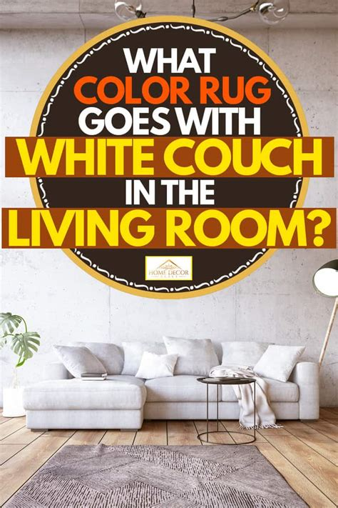color rug   white couch   living room