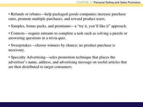 Advertising Personal Selling Coupons And Sweepstakes Are Forms Of - personal selling ppt1