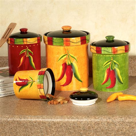 kitchen canister set ceramic vintage aluminum canister set canister sets walmart