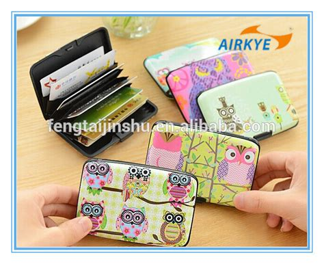 Miniso Owl Series Wallet a series of owl pattern printing aluminum credit card holder wallet buy aluminum credit card