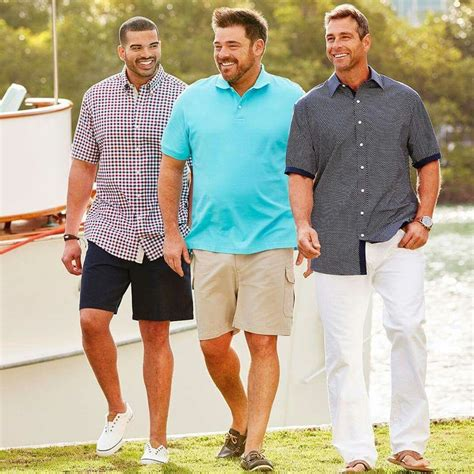 summer for obese people plus size big and tall mens fashion outfit style ideas 23