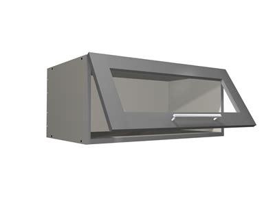 glass door flip  wall closet cabinet grey interior