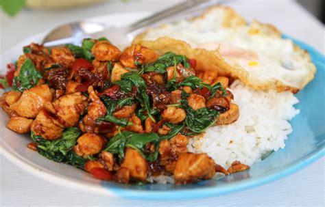 gai pad krapow thai basil chicken recipe dishmaps