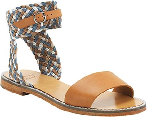 multi colored flat sandals see by chlo 233 multi colored braided flat sandal in brown