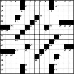 An American Crossword Puzzle Crossword