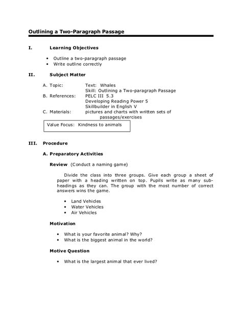 An Essay On Reading by Grade 6 Reading Outlining A Two Paragraph Passage
