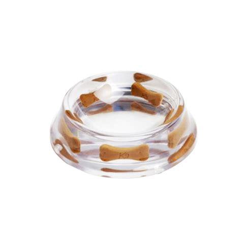 designer dog bowls brown bone heavy resin designer dog bowl by k9 ollie s