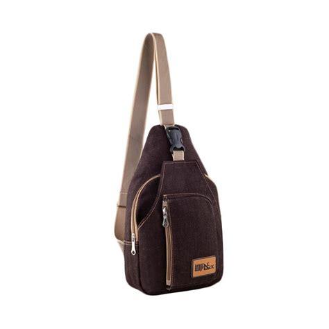 jual baepack sports canvas sling bag tas selempang pria
