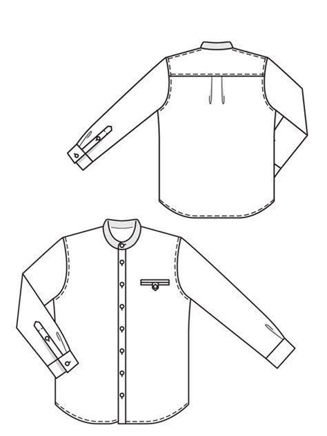 Shirt Pattern Drawing | 43 best images about shirt flat sketch on pinterest