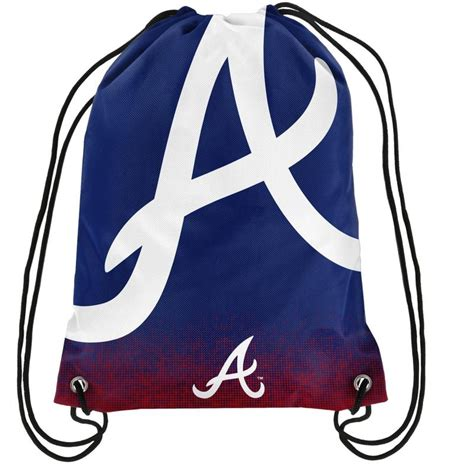 is sports fan island legit atlanta braves mlb gradient drawstring backpack sports