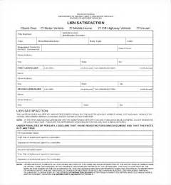 Sample Mechanics Lien Contract 11 sample lien release forms sample forms