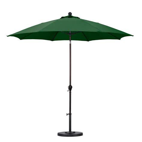 Fiberglass Patio Umbrella California Umbrella 9 Ft Fiberglass Push Tilt Patio Umbrella In Green Polyester