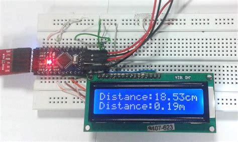 Sensor Jarak Ultrasonic Range Finder Hc Sr04 arduino based distance measurement using ultrasonic sensor