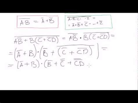 Boolean Search Worksheet by Boolean Algebra 25 Demorgan S Theorem Exles