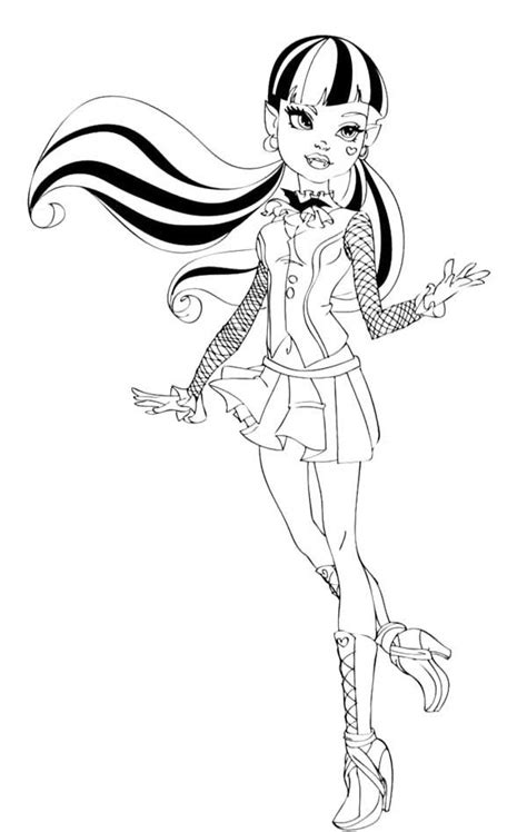fashion draculaura coloring page coloring pinterest