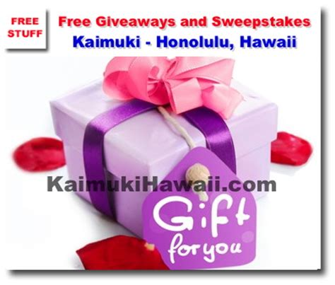 Giveaways And Sweepstakes Directory - free giveaways and sweepstakes from kaimuki hawaii com kaimuki honolulu hawaii news