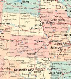 road map of the western united states