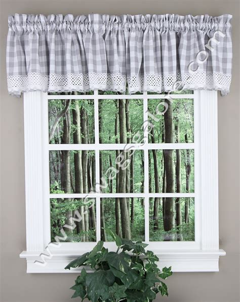 Grey Valance Curtains Buffalo Check Valances Grey Kitchen Valances
