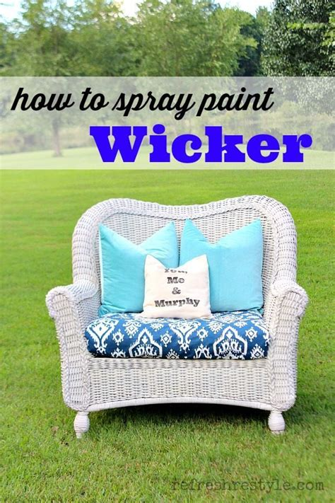 how to spray paint wicker refresh restyle