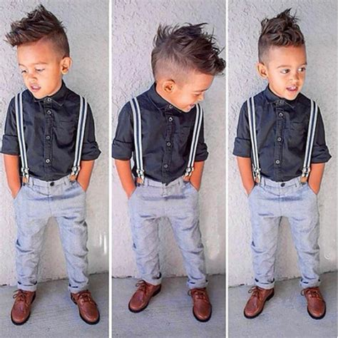 Promo Cardigan Kid Size M Kid Allsize new gentleman baby boy t shirt suspender trousers overall suits for boys summer clothing