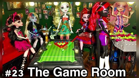 monster high doll house tours update game room monster high doll house room tour 23 50 picture day londoom