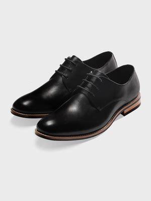 H Wood Dress Shoes by Black Leather Wood Sole The Black Tux